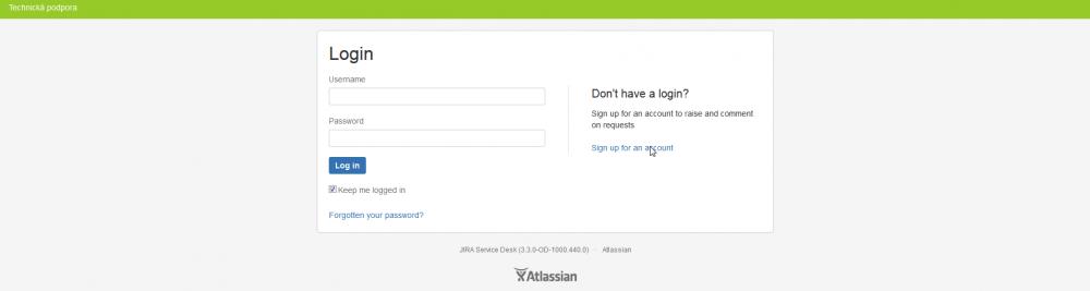 Rozcestník pro přihlášení/registraci
