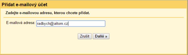 Nastavení Gmailu krok 4